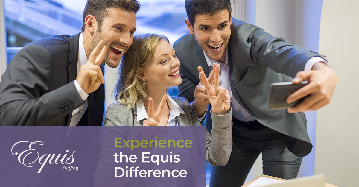 equis staffing make friends at new office